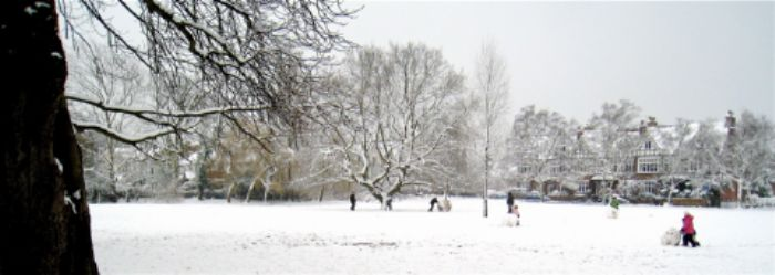 Giant snowballs in Barnes