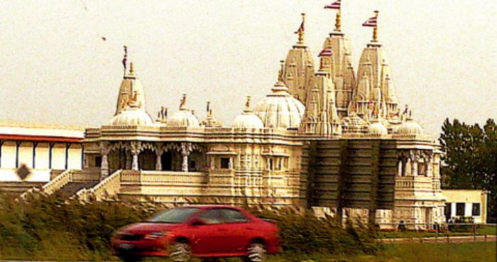 Indian temple by the freeway ...