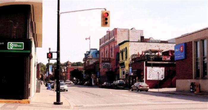 Roxy cinema viewed from Main Street, Owen Sound