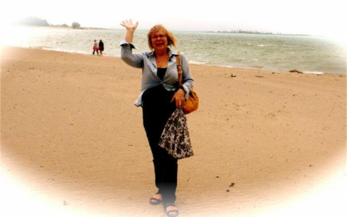 A windy day in September on Southampton beach, Lake Huron