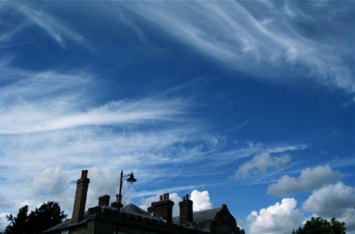 A romantic, summer cloudscape, Midhurst, Sussex 2010