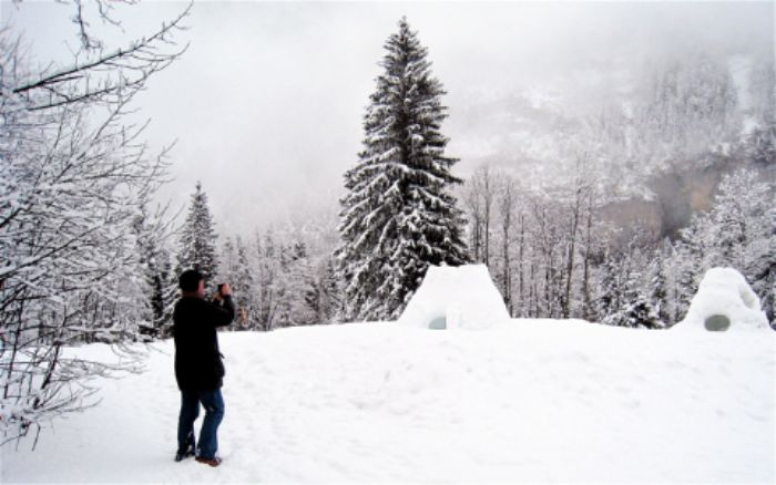 John comes upon mysterious igloos in the forest