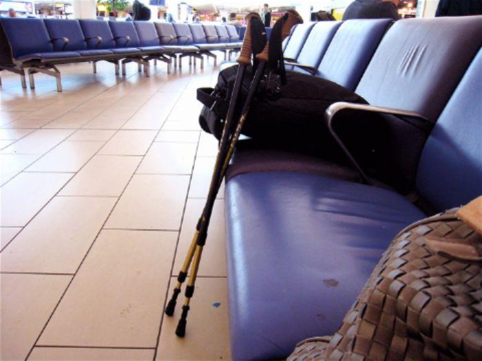 Nordic walking poles escape confiscation