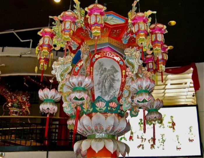 Chinese lantern  -  enter dragon  - left - on motorbike ...