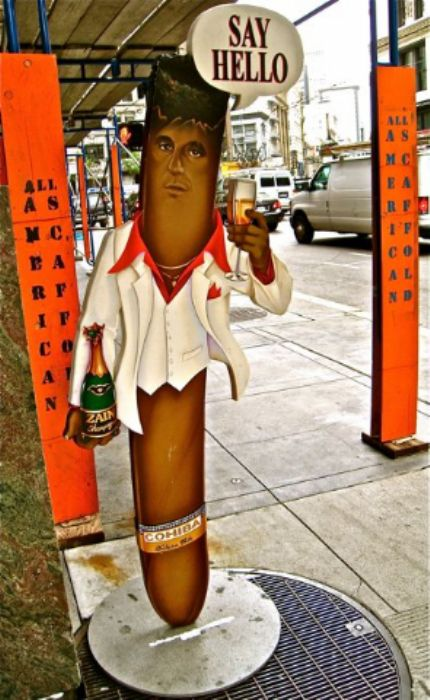 Well, hello  ...  a friendly face on Market and 3rd ...