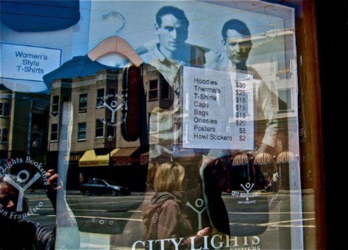 'City Lights' bookshop window 3