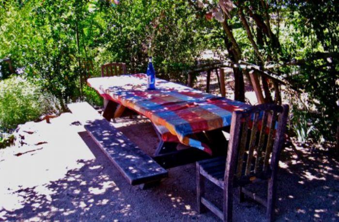 Multicolored checkerboard garden style ...