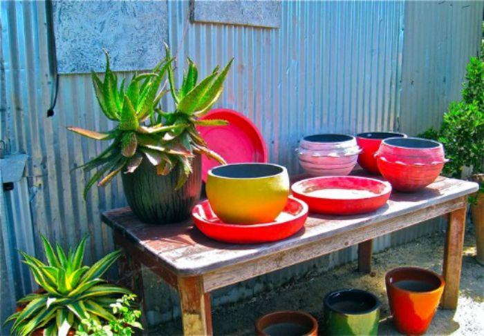 Primary colours - garden shop