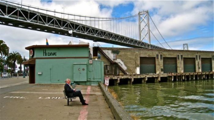 High diver - Bay bridge waterfront ...