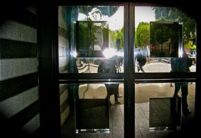 Art gallery entrance ...