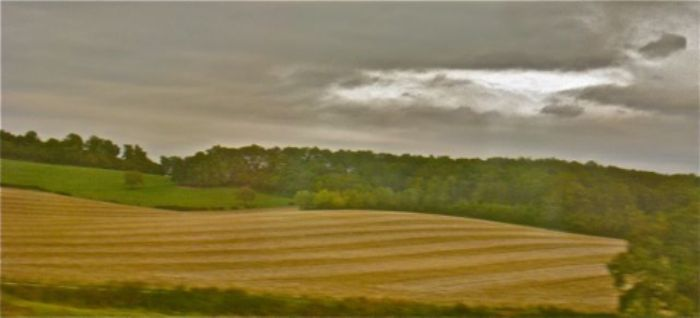 Ploughing along in perfect harmony ...