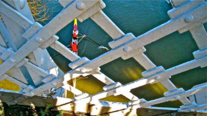 Taken from Barnes railway bridge on New Year's Day 2013 ...