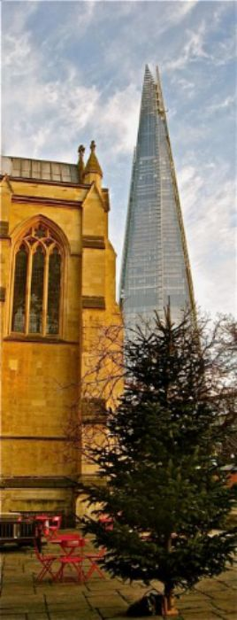 The Shard, Southwark Cathedral and a Christmas tree ...