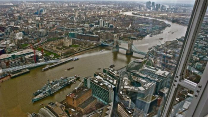 View from The Shard - HMS Belfast