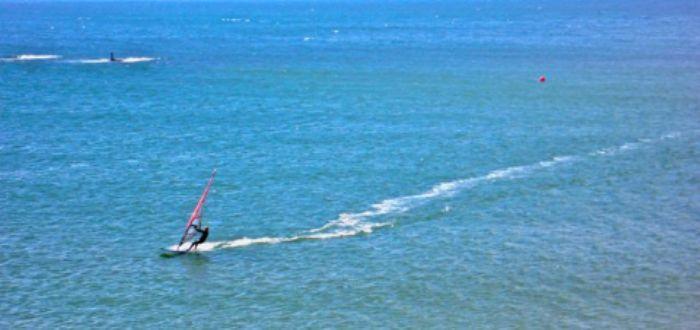 Tide coming in - windsurfer
