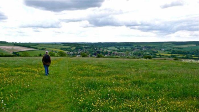John on top of Hod Hill