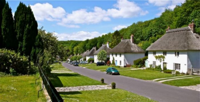 The 'planned' village of Milton Abbas ...