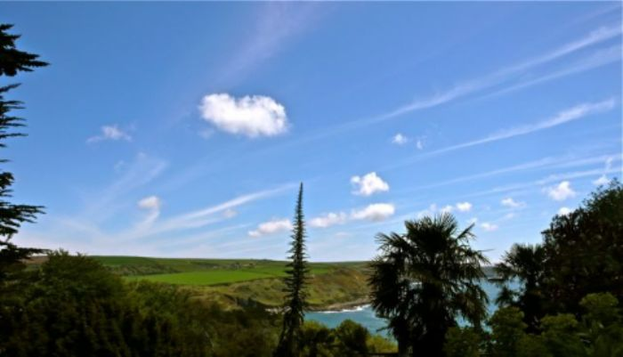 Summer sky at Overbeck's garden