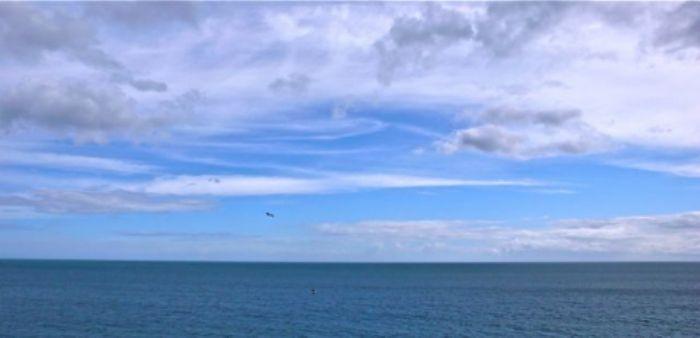 Blue sky over Burgh Island ...