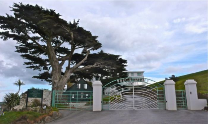 Entrance to Burgh Island hotel - guests only!
