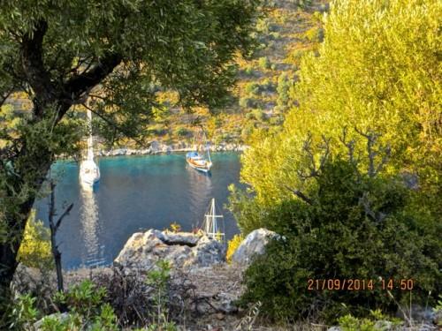 Gulets in safe harbour - Gemiler Island