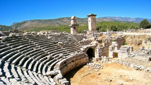 Xanthos - Monuments by the amphitheatre