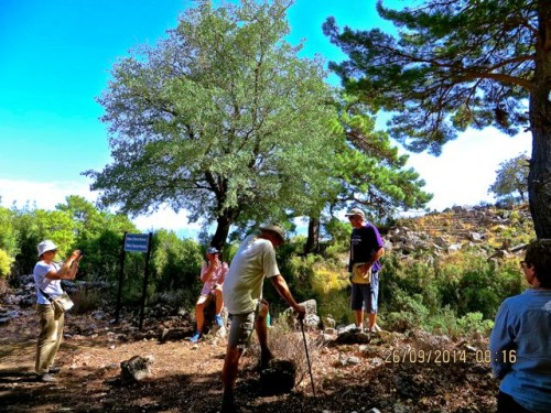 Pinara - Andrew reads to us - Mira, John, Christopher and Jane