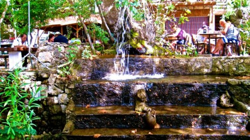 Tlos - fish restaurant with tree houses and waterfalls ...