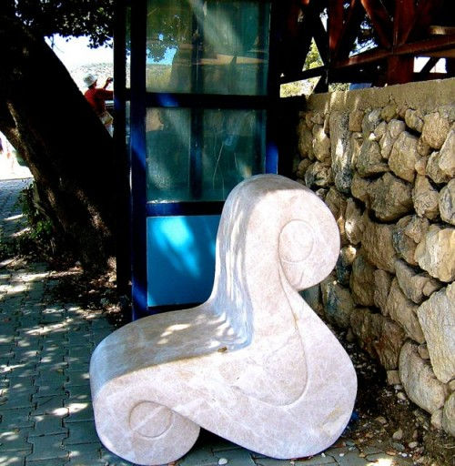 Xanthos - Café phone box - set in marble waiting for that call ...