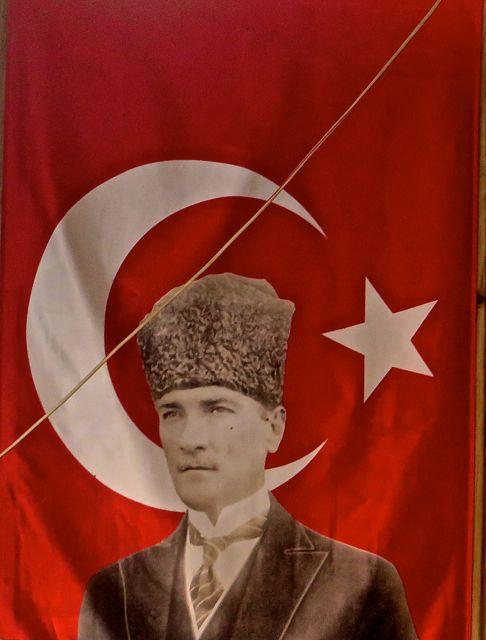 Loryma - Atatürk looks on us benevolently ...