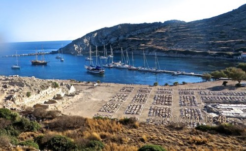 Knidos - grid shaped layout of what has been excavated to date