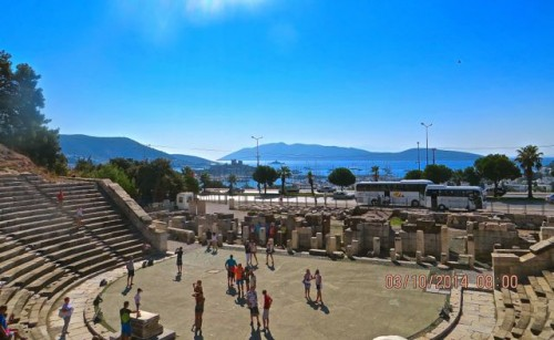 Bodrum - amphitheatre with view of harbour and castle