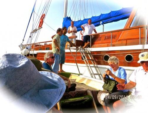 Myra - transfer from gulet to smaller boat ...