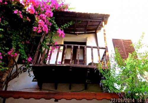 Kas - a typical rustic balcony