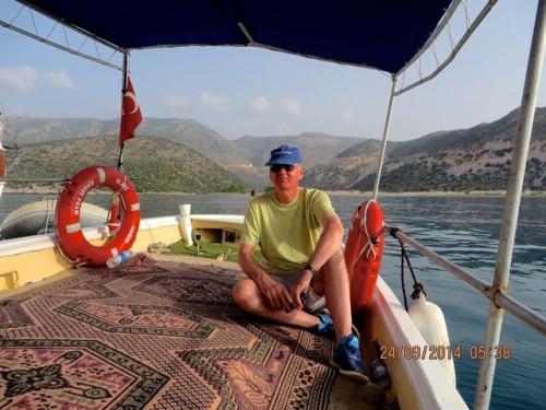 Myra - A small boat brings us to shore