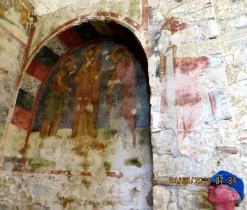 St Nicholas - John appreciates a fresco