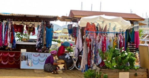 Teimussa - A stall by the jetty ...