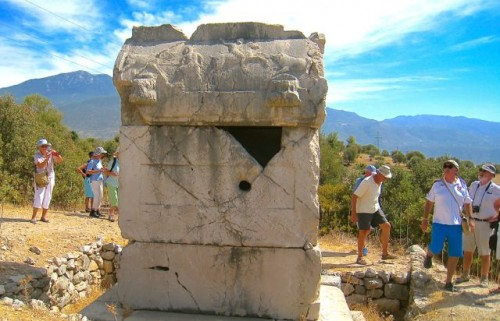 Xanthos - contemplating the tomb of the Nereids ...