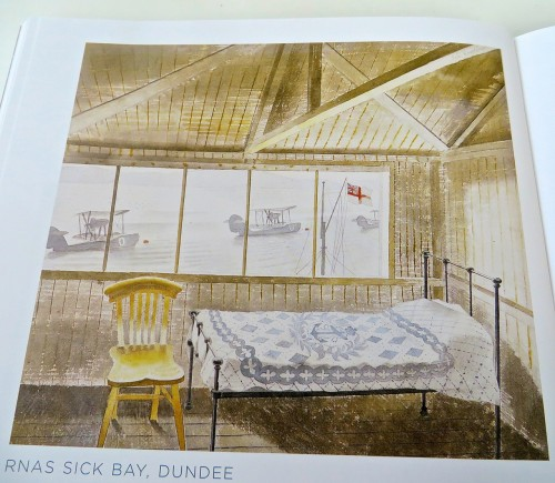 Seascape with flying boats seen from sick bed