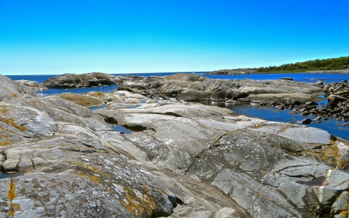 Flat rocks by the sea