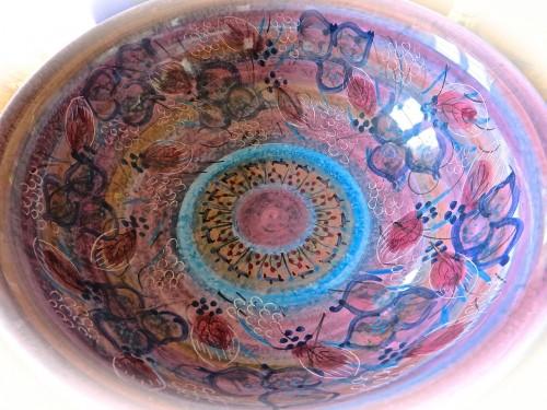 A pink bowl