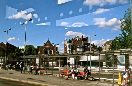 The outside part of Hammersmith bus station