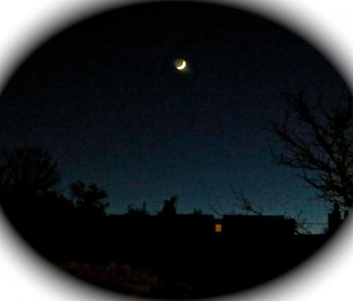 Bedtime under a crescent moon