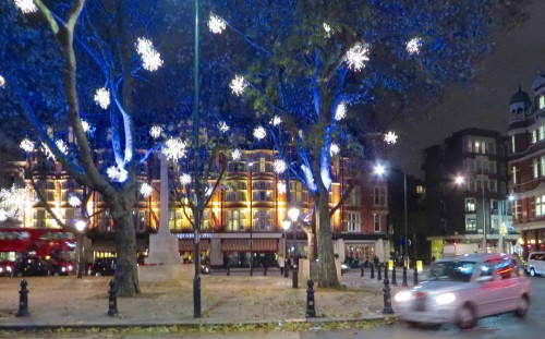Christmas lights Sloane Square 2015