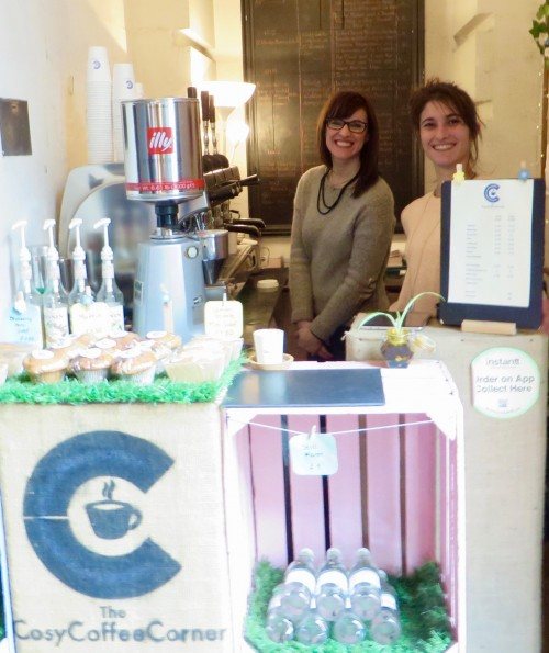 Melina and Melina at The CosyCoffeeCorner - St Mary Woolnoth Church, Lombard Street, EC3