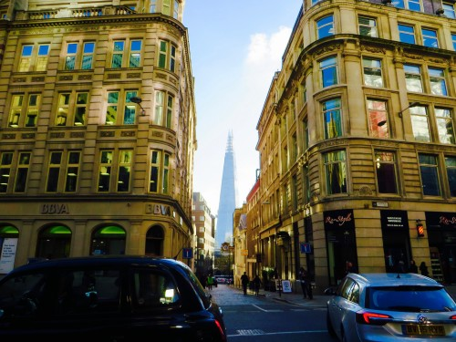 The Shard from Eastcheap EC3