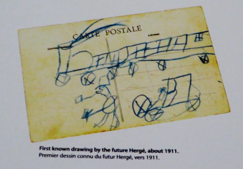 First known drawing by Hergé ...