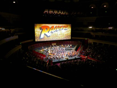 Front row seat at 'Raiders of the Lost Ark' Royal Albert Hall - 12 March 2016