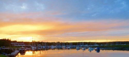 Sunset at Buckler's Hard = goodnight!