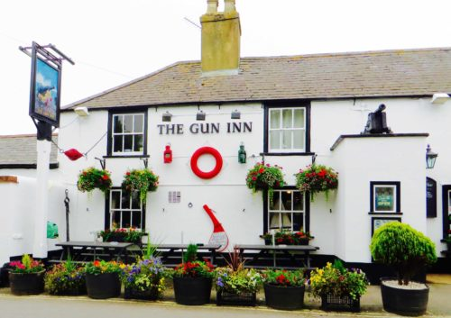 The 'Gun Inn', Keyhaven, offers a welcome lunch ...